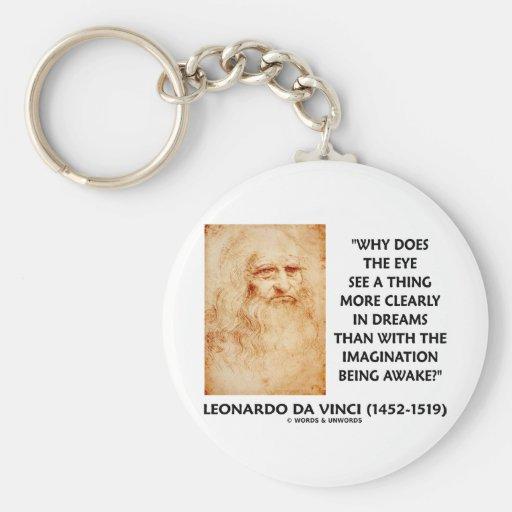 el ojo de da Vinci ve más claramente en sueños que Llavero Personalizado