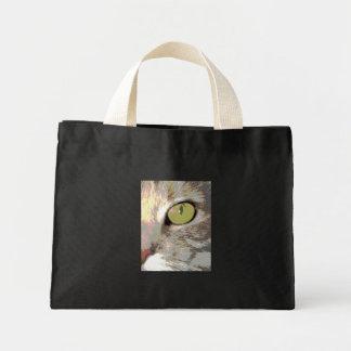 El ojo de gato bolsa de tela pequeña