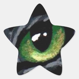 """El """"ojo de gato:  Pegatina del verde"""""""