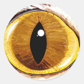 El ojo de gato pintado pegatina redonda