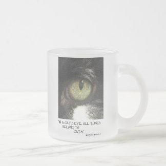 El ojo de gato tazas de café