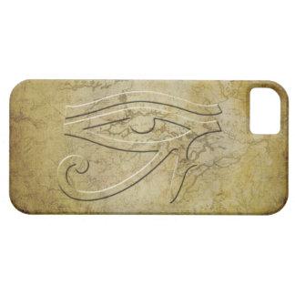 El ojo de Horus - mirada grabada en relieve iPhone 5 Fundas