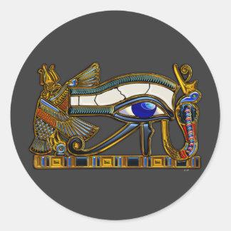 El ojo de Horus Pegatina Redonda
