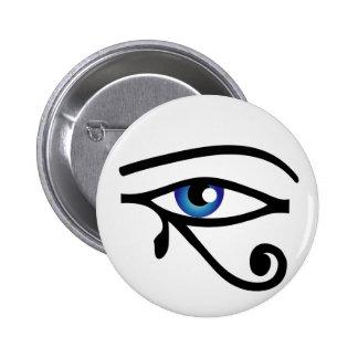 El ojo de Horus Pin Redondo De 2 Pulgadas