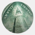 El ojo de Illuminati Pegatina Redonda