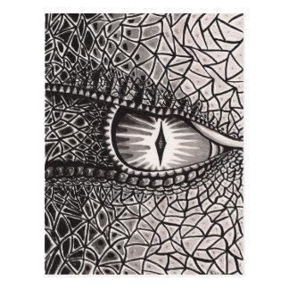 El ojo de la postal del dragón