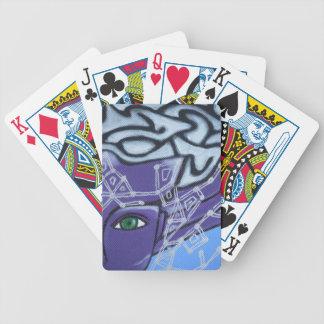 El ojo de la protección baraja de cartas