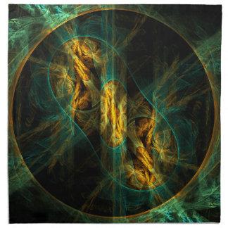El ojo de la servilleta del arte abstracto de la