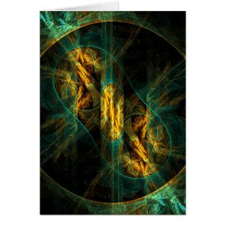 El ojo de la tarjeta de nota del arte abstracto de