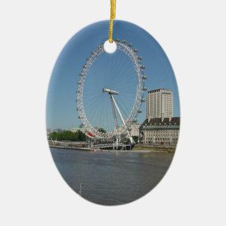 El ojo de Londres Adorno Navideño Ovalado De Cerámica