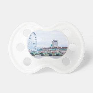 El ojo de Londres en un día soleado Chupetes Para Bebes