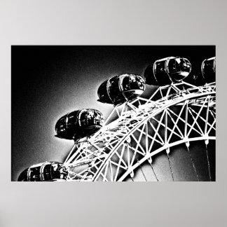 El ojo de Londres, impresión de la lona Posters