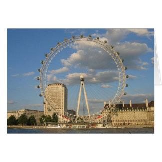 El ojo de Londres - NoteCard en blanco Tarjeta Pequeña