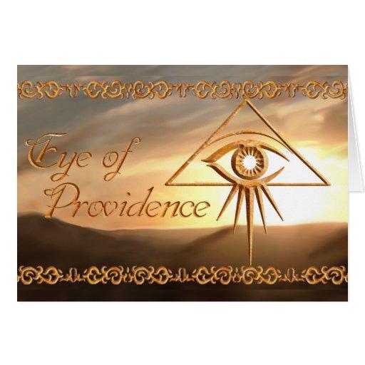 El ojo de Providence alineó la piedra Tarjeta De Felicitación