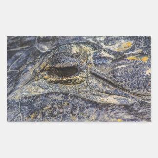 El ojo de un cocodrilo rectangular altavoz