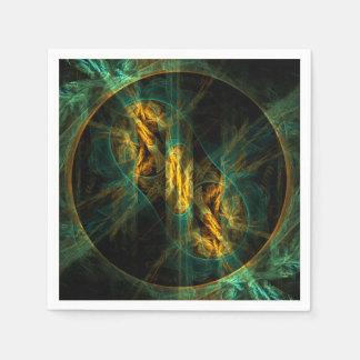 El ojo del arte abstracto de la selva servilletas desechables