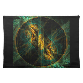 El ojo del arte abstracto Placemat de la selva Mantel