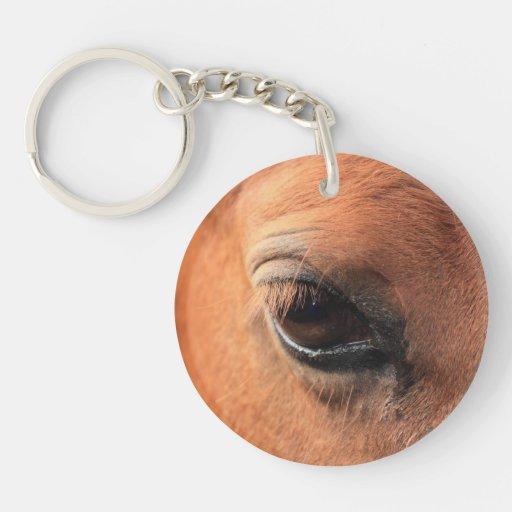 El ojo del caballo llavero