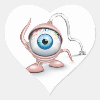 El ojo del Cyclope tapado Pegatina Corazón