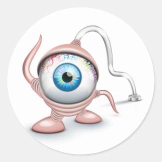 El ojo del Cyclope tapado Pegatinas Redondas