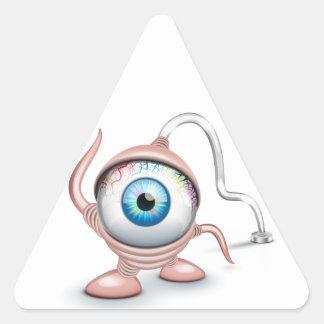 El ojo del Cyclope tapado Pegatinas Trianguladas