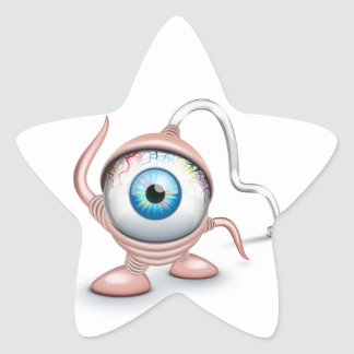 El ojo del Cyclope tapado Pegatina En Forma De Estrella
