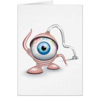 El ojo del Cyclope tapado Tarjeta De Felicitación