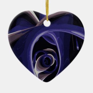 El ojo del dolor adorno navideño de cerámica en forma de corazón
