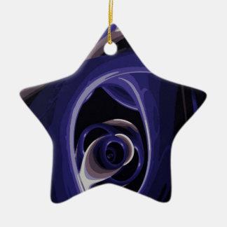 El ojo del dolor adorno navideño de cerámica en forma de estrella