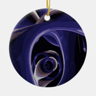 El ojo del dolor adorno navideño redondo de cerámica