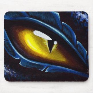 El ojo del dragón azul alfombrilla de raton