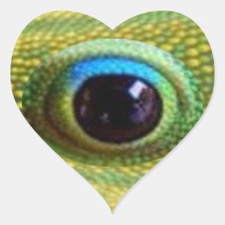 El ojo del dragón chino afortunado - MATARÁ a MAL Pegatina En Forma De Corazón
