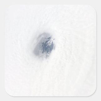 El ojo del huracán Rita Calcomanías Cuadradas