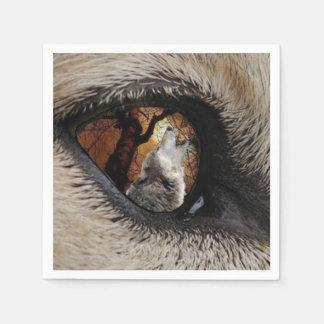 El ojo del lobo servilletas de papel