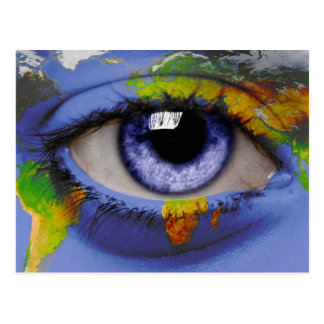 El ojo del mundo tarjeta postal