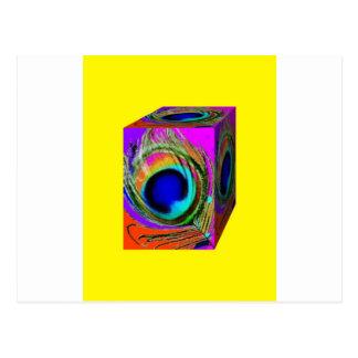 El ojo del pavo real empluma la caja por Sharles Postal