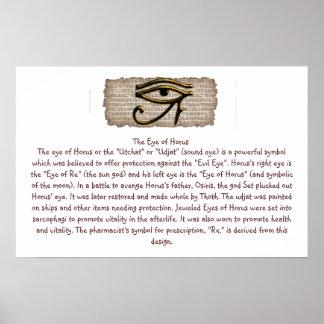 El ojo del poster de Horus Info