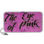 El ojo del rosa altavoz