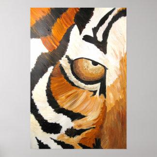 El ojo del tigre (de acrílico por el arte de Kimbe Impresiones