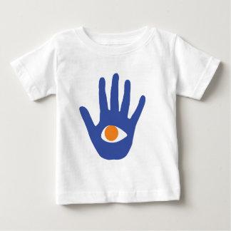 El ojo en palma playera de bebé