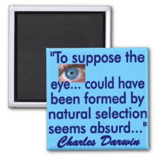 El ojo humano imán cuadrado