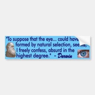 El ojo humano pegatina de parachoque