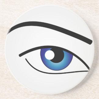 El ojo humano posavaso para bebida
