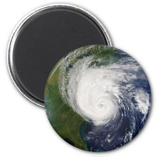 El ojo huracán Isabel del 18 de septiembre de 2003 Imán De Frigorífico