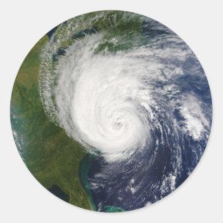 El ojo huracán Isabel del 18 de septiembre de 2003 Pegatina Redonda