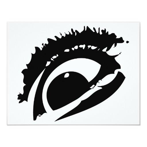 """El ojo invitación 4.25"""" x 5.5"""""""