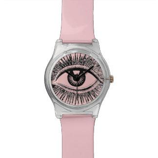 El ojo le ve calcular visualmente al médico de hos relojes de mano