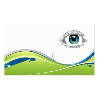 El ojo le ve las tarjetas de visita