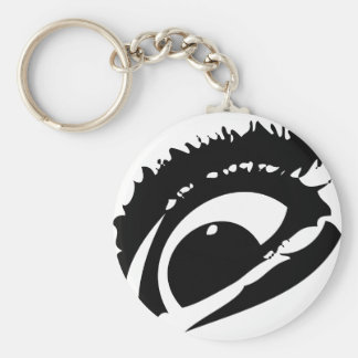 El ojo llavero redondo tipo pin