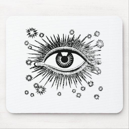 El ojo místico ve todos alfombrilla de raton